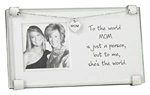 Mud Pie Picture Frame, Mom Is The World (Discontinued by Manufacturer)