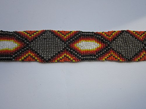 GLASS BEADED STRIPS 3 SIZES BEADWORK TRIBAL NATIVE CRAFTS POW WOW REGALIA S1 (20 x 1 1/4)