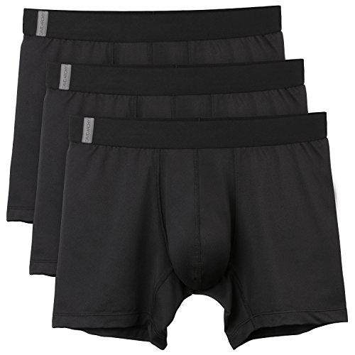 David Archy 3 Pack Men's Athletic Sur-Dry Tech Mesh Sports Boxer Briefs(M, Black) - Dry Boxers