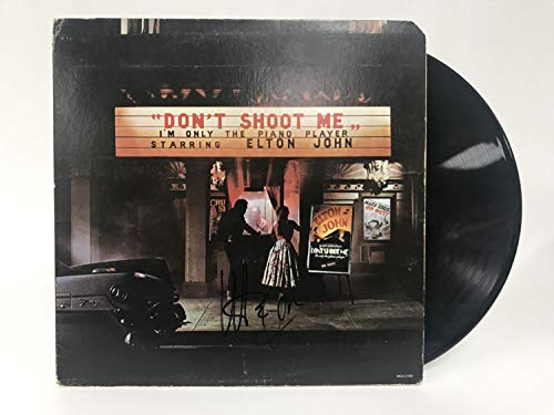 Elton John Signed Autographed 'Don't Shoot Me I'm Only the Piano Player' Record Album - COA Matching Holograms