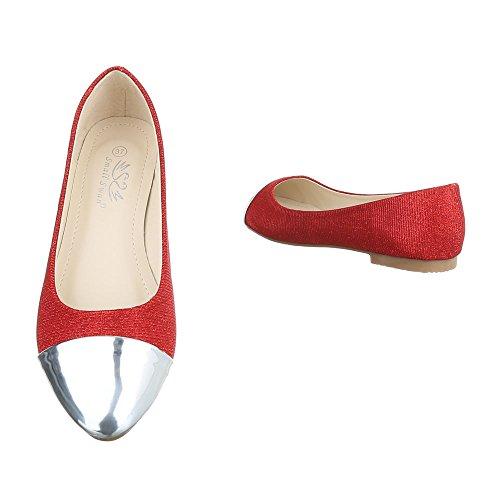 plateado Design Mujer Cerrado rojo Ital wzIpxpqd