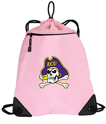 Broad Bay Cute ECU Drawstring Backpack Ladies East Carolina University Cinch Bag - Unique MESH & Microfiber
