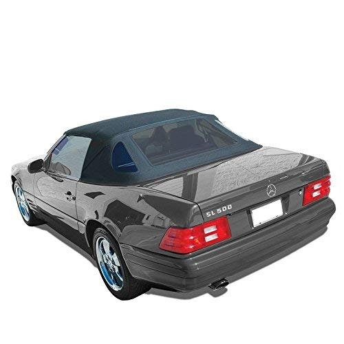 Compatible With: Mercedes SL R129 Convertible Soft Top Replacement 1990-2002 Black Stayfast Cloth (Black)