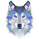 Wolf Modern Art Design Vinyl Sticker - SELECT SIZE