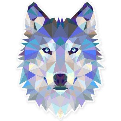 Wolf Modern Art Design Vinyl Sticker - Car Phone Helmet - SELECT SIZE (Art Design Sticker)