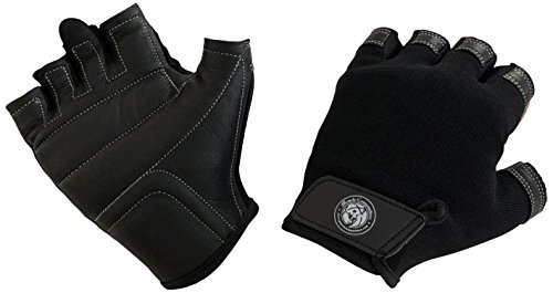 Muscle Composition Pro Grip Leather Gym Gloves by for Weight Training and Crossfit -