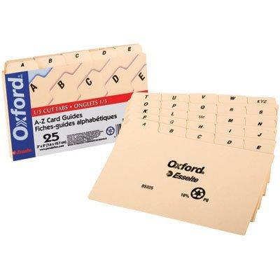- Esselte Corporation ESSB5325 Index Card Guides 3X5 Alphabetical by Esselte Corporation