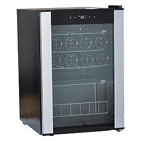 SMETA 19 Bottles Small Wine Refridgerator Compressor Freestanding Wine Cooler with LED Display Wine Cellar Fridge