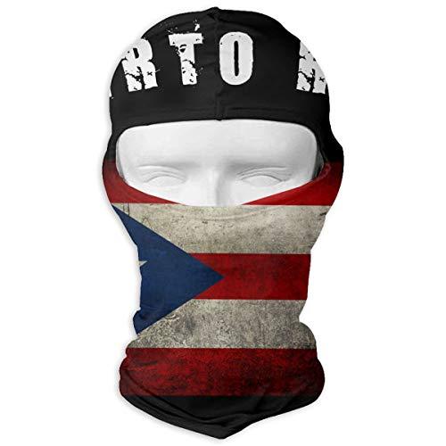 Saroyan Hornby Puerto Rico Flag Patriotic Distressed Balaclava Ski Mask Neck Warmer For Cycling Skiing Motorcycle Snowboard Tactical Hunting
