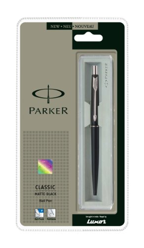 - BEST PRICE Parker Classic Matte Black Chrome Plated Ball Pen