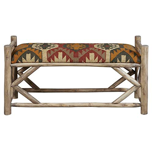Pulaski Wood Bench in Southwest Ganado Pattern