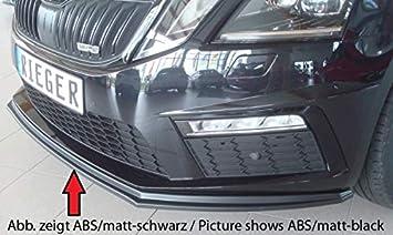 Rieger Frontal Alerón Espada Negro Brillante para Skoda Octavia RS (5E) 02.17 (a Partir de Facelift): Amazon.es: Coche y moto