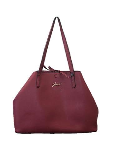 0d87376446e Guess Neuf Raisa simili cuir rouge bordeaux Sac fourre-tout sacoche sac de  grande Slouch