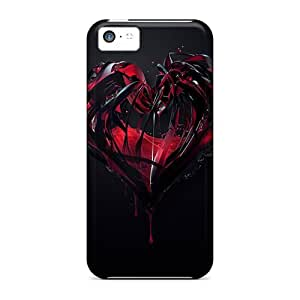 Hot New 3d Heart Cases Covers For Iphone 5c With Perfect Design