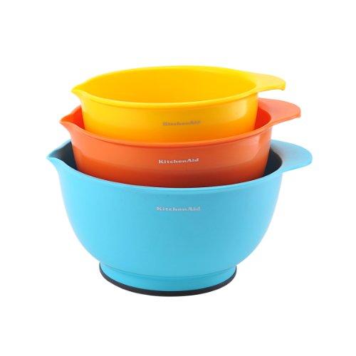 KitchenAid Classic Mixing Bowls, Assorted Colors, Set of 3