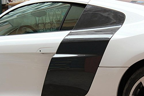 TGFOF Carbon Fiber Side Door Fender Cover Protector for Audi R8 2 Door 2008-2015
