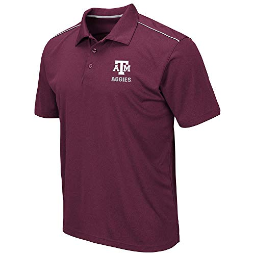 Mens Texas A&M Aggies Eagle Short Sleeve Polo Shirt - - Am Eagle