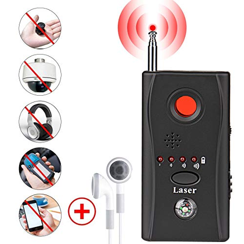 (Bug Detector, RF Anti-Spy Wireless Detector,Hidden Camera Pinhole Laser Lens GSM Device Finder,Full-Range All-Round Portable Detector for Eavesdropping, Candid Video, GPS Tracker Laser)