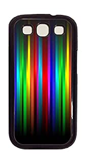 Customized Dual-Protective case for samsung galaxy s3 for girls - Fire red vertical stripes