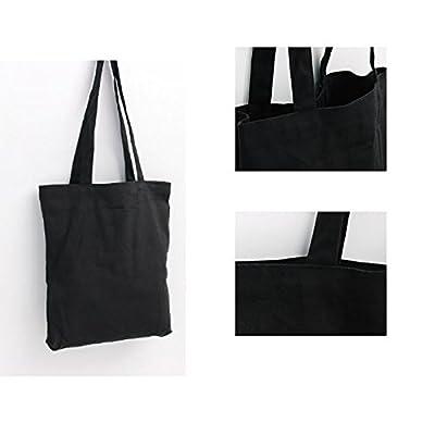 Canvas Tote Bag Black Print Design ASAPS