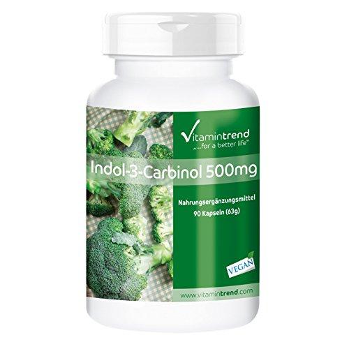 Indol-3-Carbinol 500mg ⚡ 90 cápsulas ⚡ extracto de brócoli en polvo, antioxidante natural para el sistema inmune - Protege las células: Amazon.es: ...