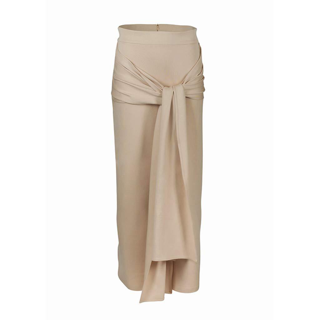 Shenye - Falda larga para mujer, color negro rosa caqui L: Amazon ...