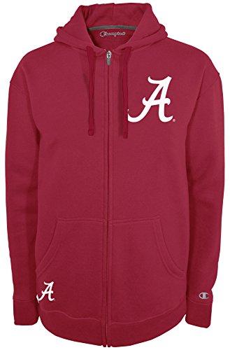 NCAA Alabama Crimson Tide Men's Fan Favorite 2 Full Zip Hooded Fleece Jacket, Medium, Pro Brick Garnet