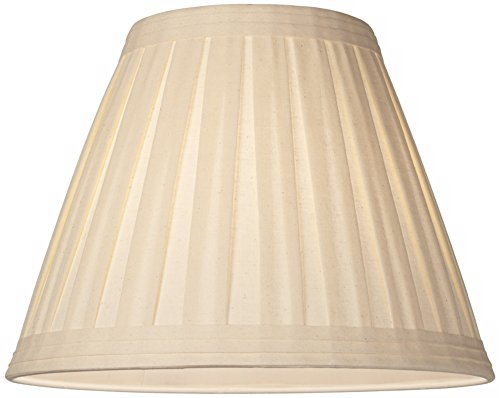 Creme Linen Box Pleat Lamp Shade 7x14x11 (Spider) by Springcrest (Image #1)'