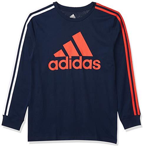 adidas Boys' Long Sleeve Cotton Jersey T-Shirt Tee 1