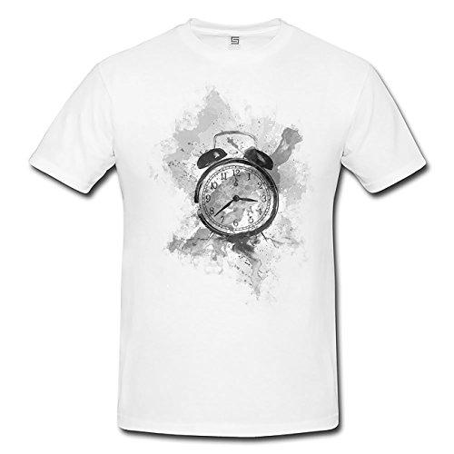 Wecker T-Shirt Herren, Men mit stylischen Motiv von Paul Sinus