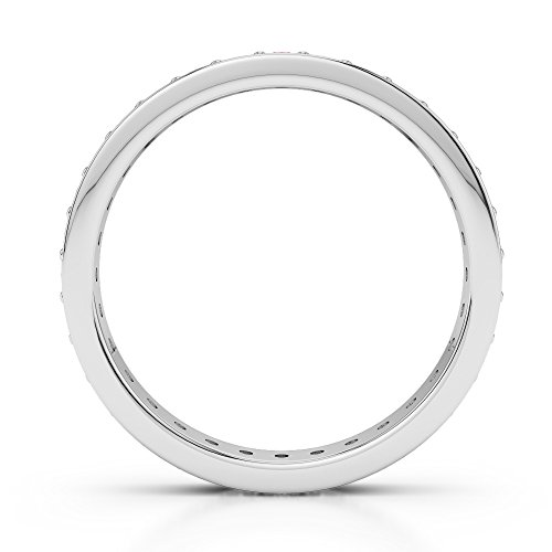 G-H/VS 0,26 CT Coupe ronde sertie de diamants Grenat et Full Eternity Bague en platine 950 Agdr-1079