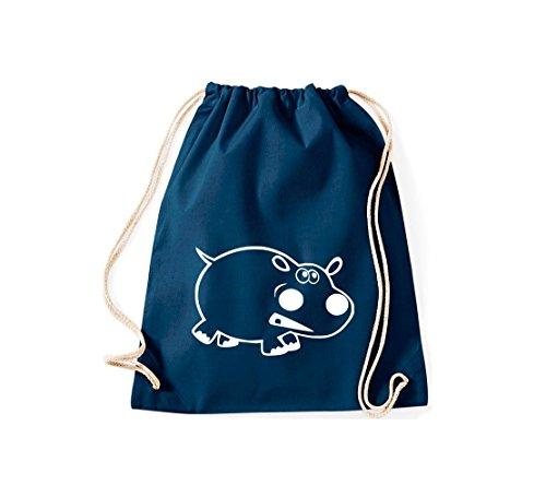 Shirtstown - Bolso de tela de algodón para mujer Azul - azul