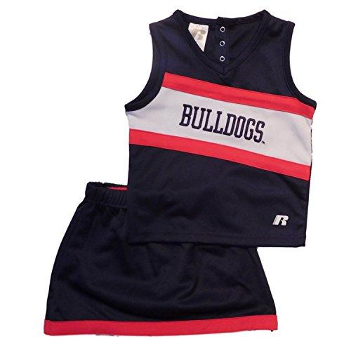 - Russell Toddler Girls 3 PC Gonzaga Bulldogs Uniform Shirt Shorts & Skirt 2T