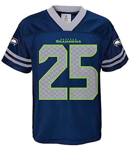 Seattle Seahawks Nfl Jersey - Outerstuff Richard Sherman Seattle Seahawks NFL Toddler Boys 2-4 Navy Home Mesh Player Jersey (Size 3T)