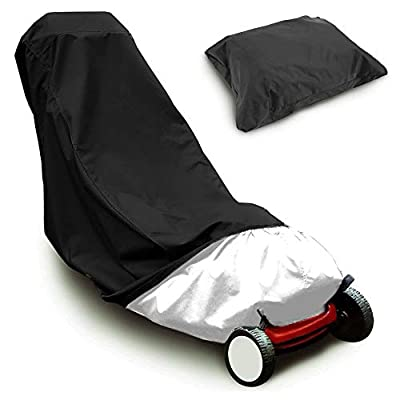 2win2buy Lawn Mower Cover Heavy Duty Waterproof Polyester Oxford Mower Covers - UV & Dust & Water Resistant, Weather Resistant,Universal Fit Drawstring & Storage Bag