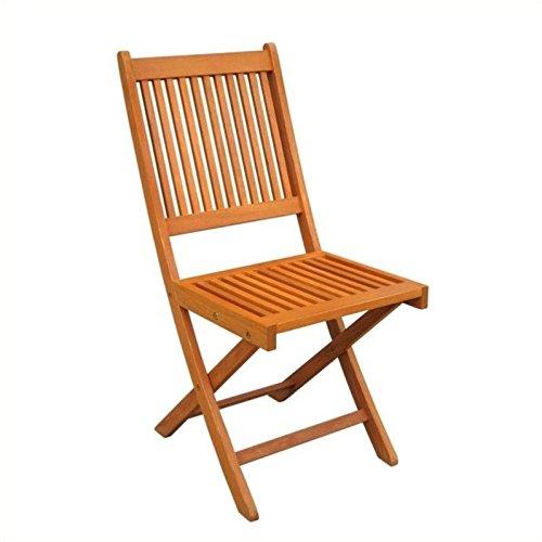 International Caravan TT-VN-0128-Chr-IC Furniture Piece Royal Tahiti Set of 2 Outdoor Folding Garden Chair