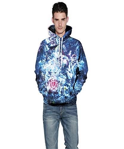 Ywfzzxs 3D Hoodies Hd Digital Printed Sweatshirts Long Sleeve Big Pockets Pullover Unisex Dream Space XXXL