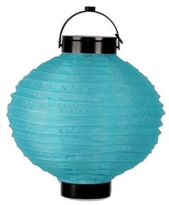 Journey's Edge Outdoor Patio Fabric Hanging LED Solar Lantern (Blue)