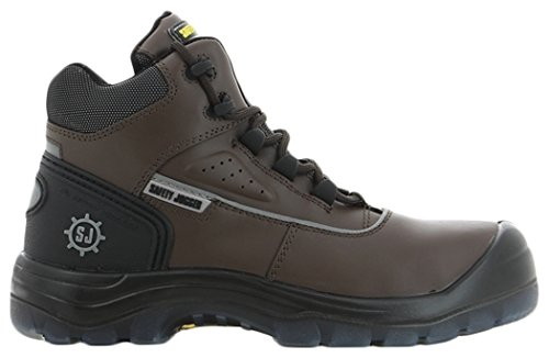 SAFETY JOGGER MARS Men Safety Toe Lightweight EH PR Water Resistant Mid Cut Boot, M 13, Dark Brown/Black