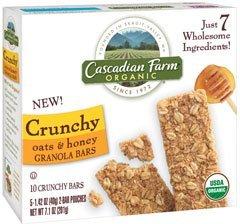 Cascadian Farm, Organic, Crunchy Oats & Honey Granola Bars, 7.1oz Box (Pack of 4)