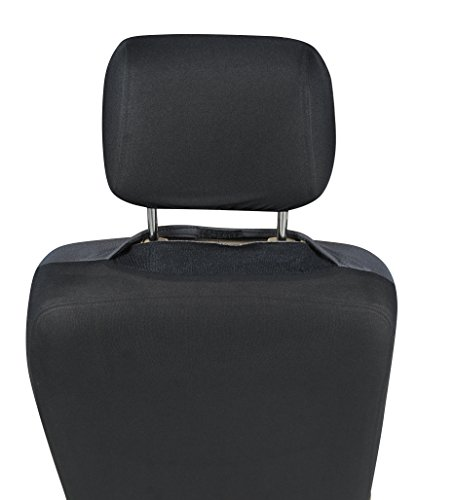 116001 Black Fabric 2 Front Car Seat Covers Compatible To
