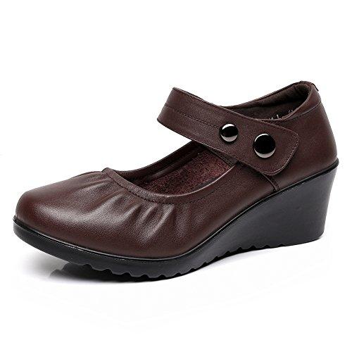MAMÁ y zapatos cómodos de la caída/Suaves zapatos de las señoras/Zapatos de cuñas/Zapatos de enfermería A