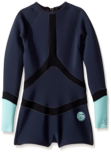 Rip Curl Madi Long Sleeve Boy Leg Spring Suit, Blue, Size 4