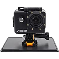 WASPCAM 9941 Wi-Fi Waterproof 4K Action Camera HD USB Action Cam - Black