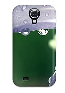 New Style Tpu S4 Protective Case Cover/ Galaxy Case - Wet Flower