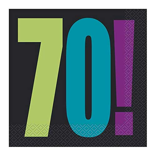 Birthday Cheer 70th Birthday Party Napkins, 16ct ()