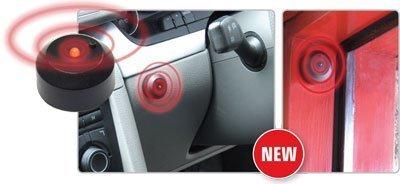 MP Essentials Stick on Battery Wireless Red LED Flashing Light Car Fake Dummy Alarm