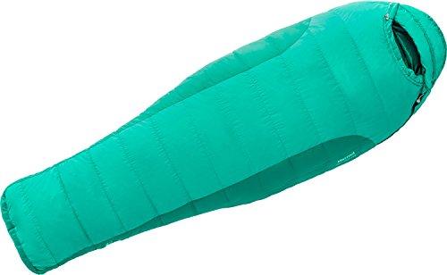 Marmot Womens Angel Fire 15 Reg Down Sleeping Bag RIGHT ZIP Gem Green/ Green Garnet #23420-4392 ()