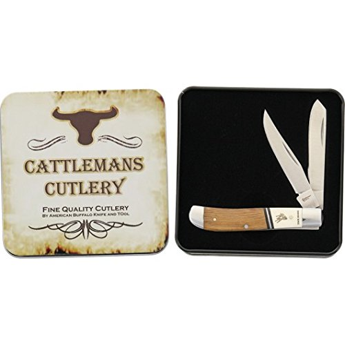 Trading Corp Rawhide - Cattlemans Cutlery CC0008RST-BRK Rawhide Series Stockman