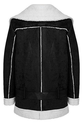 Veste À Cotton Casual Coat Cou Longues Zearo Femmes Revers Matte Épais Manches Bleu Des Marine Zqpw5